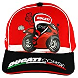 Ducati Corse Moto GP Racing Baseball Cap Kids Bike Red Official 2018