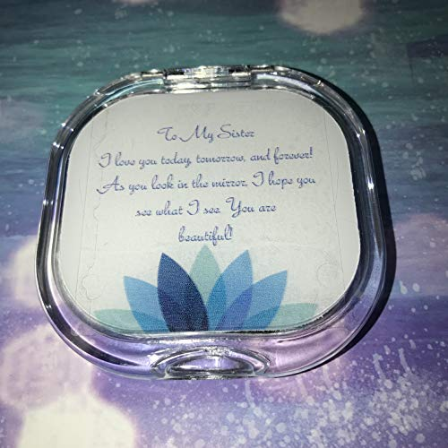 Remembered Gifts Compact Mirror With A Treasured Message for Special Occassions: Mother's Day, Birthday's, Christmas, Graduation, and Special Celebrations (Sister Squared Shaped Mirror) -