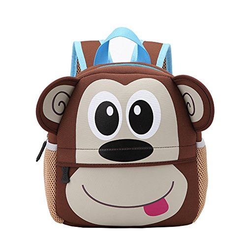 Buy Kids Backpack,10 Inch Digital Art Waterproof Toddler Kids 3D Cute Zoo Cartoon Pre School Childre...