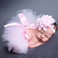 Yeefant Newborn Baby Girls Boys Costume Photo Photography Prop Outfits Suit Blanket, Party Costume, Baby Clothes, Pink Head Band and Dress