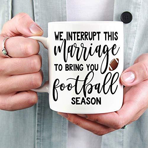 Interrupt This Marriage Football Mug, It's Fall Yall Mug, Resting Witch Face Mug, Fall Mug, Halloween Mug, Pumpkin Spice Mug, Funny Fall -