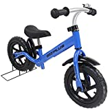 Goplus 12″ Kids Balance Bike, No Pedal Bicycle w/Adjustable Bar and Seat, Bell Ring, Stand, Fender for Ages 3 to 6 Years, Pre Bike Push Walking Bicycle
