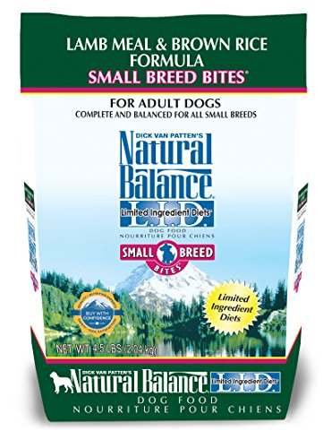 Natural Balance Small Breed Bites L.I.D. Limited Ingredient Diets Dry Dog Food, Lamb Meal & Brown Rice Formula, 4.5-Pound