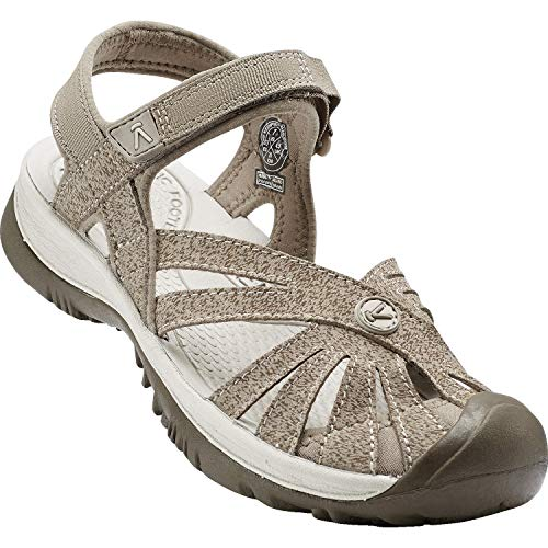 (KEEN Women's Rose Sandal, Brindle/Shiitake, 12 M US)