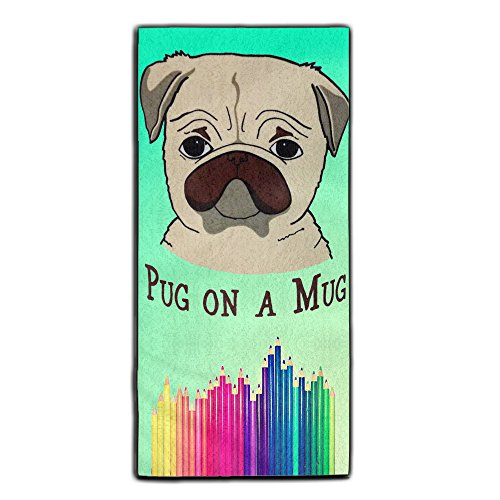 Baerg Pug On A Mug Microfiber And Super Absorbent Multifunctional Sports Towel One Size