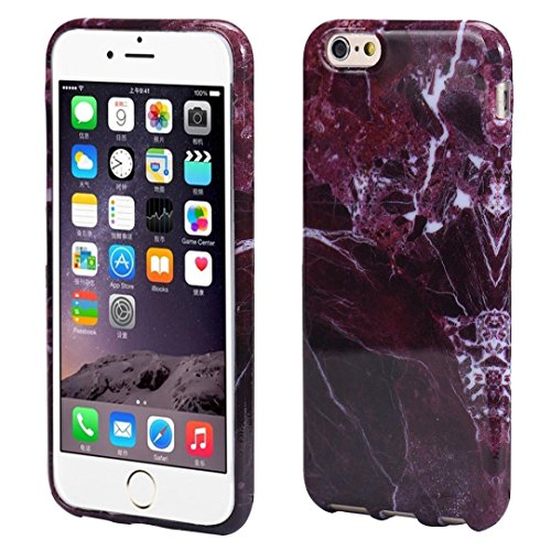 Price comparison product image Marble Texture Print Aobiny Cover Case Skin For iPhone 6s Plus 5.5inch (Red)