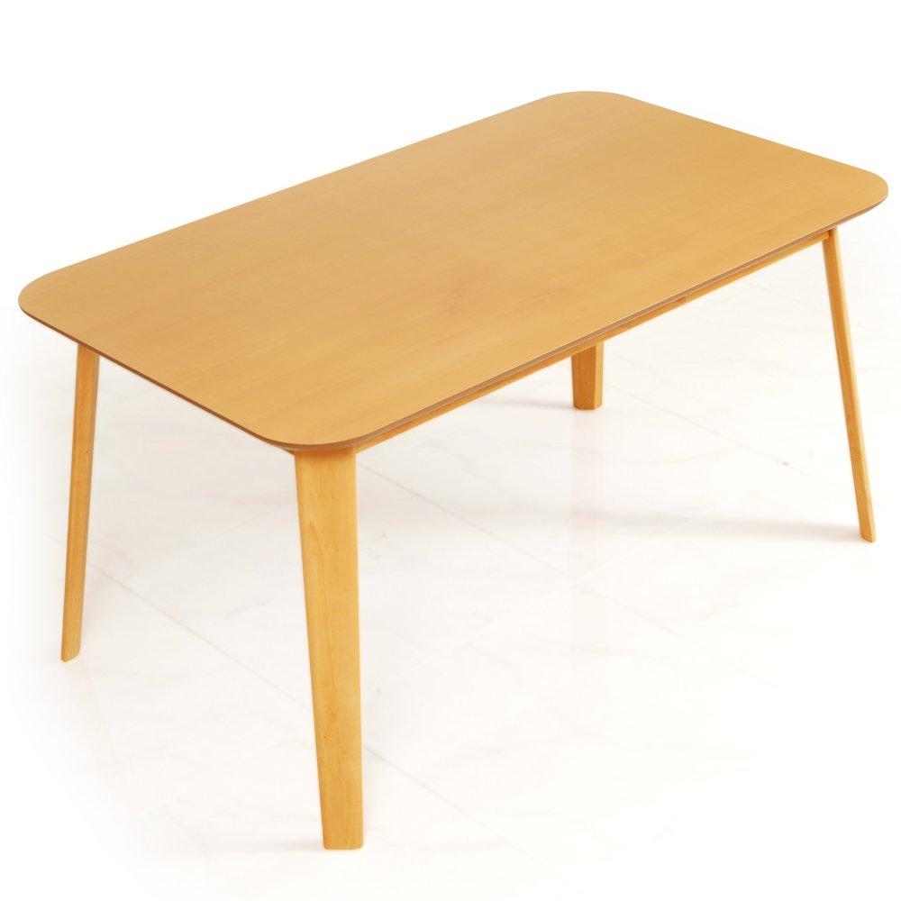LOWYA (ロウヤ) カフェ風 ダイニングテーブル 4人掛け 135×80cm ナチュラル×ホワイト おしゃれ 新生活 B00JO5Z2DW Parent ナチュラル 単品:テーブル(幅135cm)
