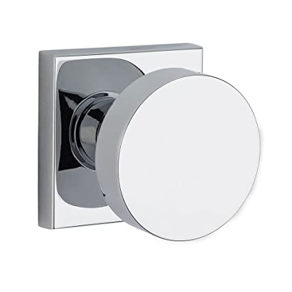 CSR Modern Privacy Door Knob Set With Modern Square Trim From
