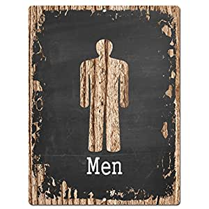 Men Restroom Chic Sign Vintage Style Retro