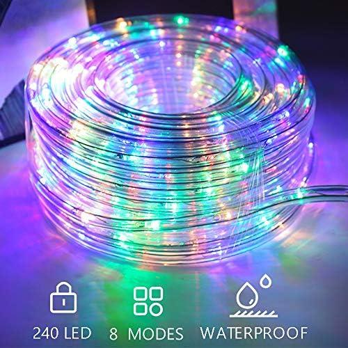 Hengda 10m LED Lichtschlauch RGB 240 LEDs Lichterschlauch Wasserfest Lichterkette Strombetrieben mit 8 Modi für Innen Außen Party Hochzeit Deko Leuchtschlauch