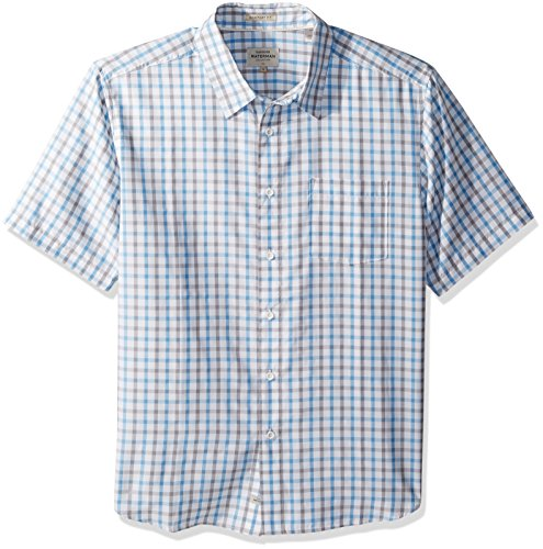 Quiksilver Waterman Men's Checked Light Woven Top, White, L