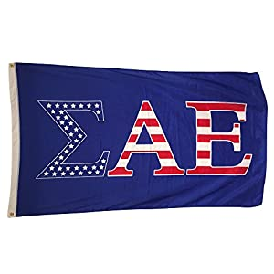 sigma alpha epsilon sae usa pattern letter fraternity flag large 3 x 5 feet officially licensed in official colors by greek life stuff