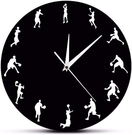jasonding Baloncesto Deporte Reloj De Pared Jugadores De ...