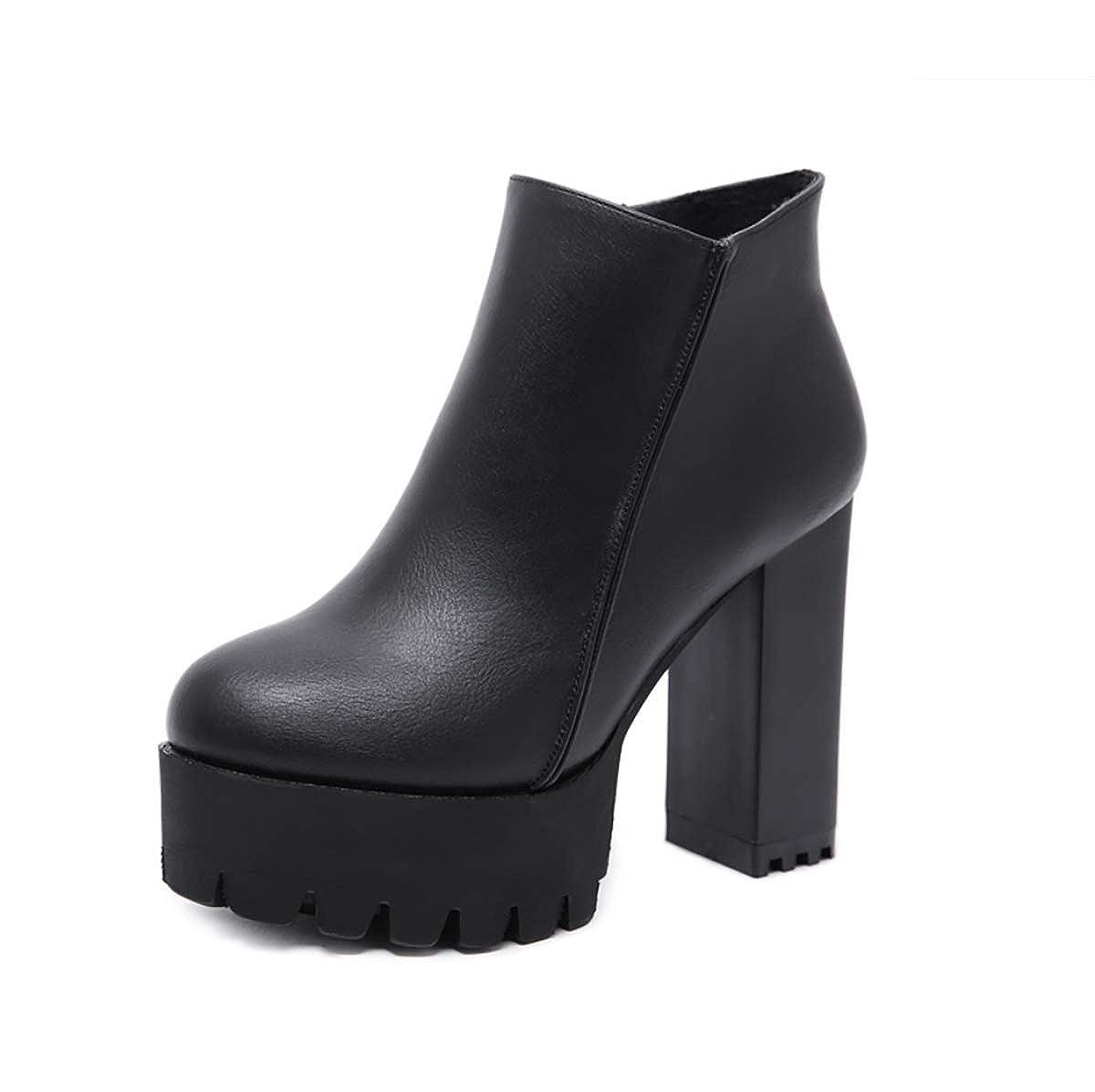 KOKQSX-Damen Plateau Sandalen peep Toe Pumps Toe Plateau stilettoladies'Stiefel Dicke Schuhe Martin Stiefel