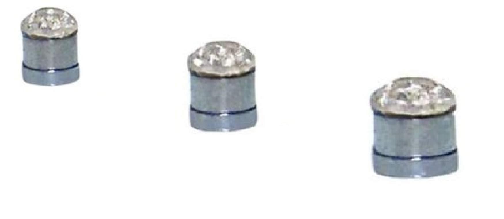 6pcs Round CZ Magnetic Earrings Stud Nose Rings No Piercing 2mm 3mm 4mm Each Package Earrings (clear 6)