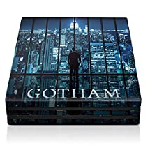 """Controller Gear Gotham """"City Lights"""" - PS4 Pro Console Skin - Officially Licensed by Warner Bros - PlayStation 4"""