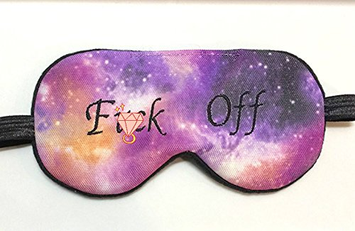 Galaxy Funny Sleep Mask Blindfold Eye Mask Naughty Bachelorette Party Favors Bridal Shower Masks. by ShushBear
