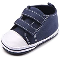 Annnowl Baby Sneakers Canvas Shoes 0-18 Months (12-18 Months, Navy Blue)