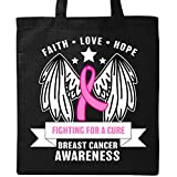 Inktastic - Breast Cancer Awareness Fighting For a Cure Tote Bag Black 31604