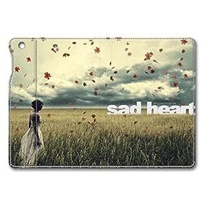Brain114 iPad Mini Case - Fashion Design Leather iPad Mini Stand Case Cover Sad Heart Leather Folding Case Cover for iPad Air Mini