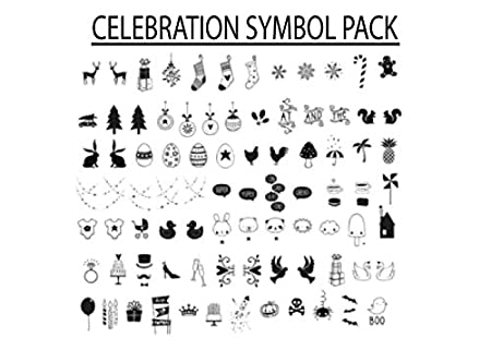 Celebration Symbols Letter Pack  For A  A Cinematic Lightbox