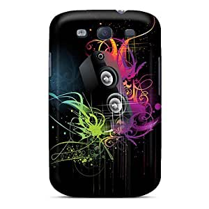 Fashion Tpu Case For Galaxy S3- Abstract Speaker Defender Case Cover