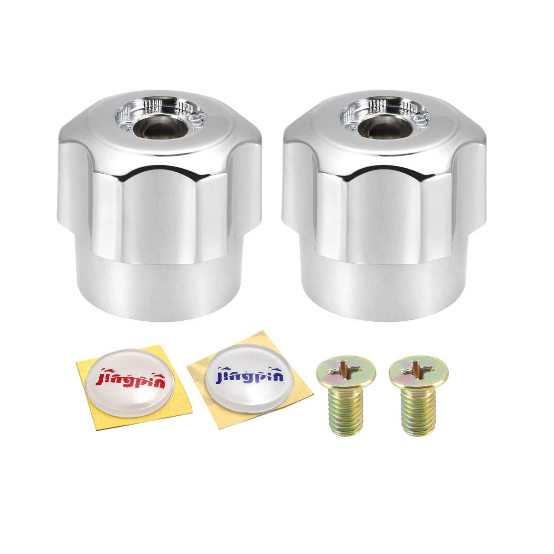 sourcing map Faucet Knob Handle 30mm Dia Universal Faucet Replacement Knob Silver Tone 2 Pcs