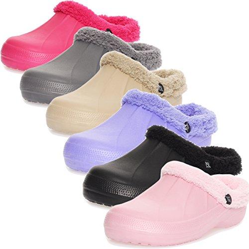 Pantoufles Sabots 292 Chaussons Lilas Fille Femme Fourrure Cleostyle D'hiver Sqx7tHwE