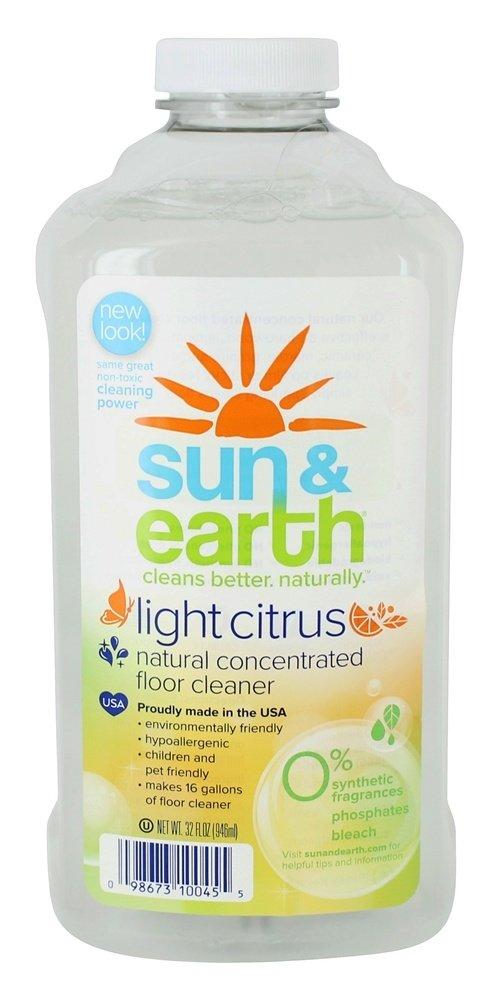 Sun & Earth - 自然濃縮床クリーナー光シトラス - 32ポンド B06Y5ZWD9S