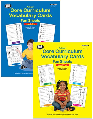 Core Curriculum Vocabulary Cards Fun Sheets Levels 1 & 2 -