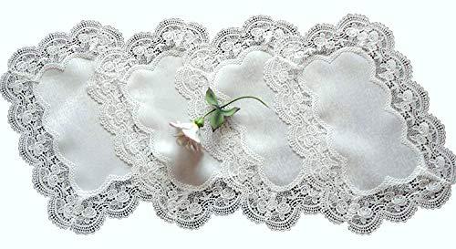 Galleria di Giovanni Royal Rose European Lace White Place Mats Doilies Retangular Set of Four - Galleria Antique Rose