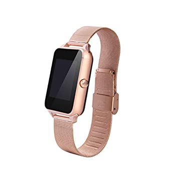 KLAYL Reloj Inteligente Smart Watch Z60 Correa de Metal Bluetooth ...