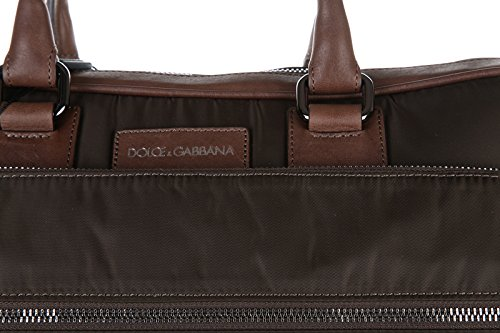 Dolce&Gabbana sac à main homme en Nylon leather details vert