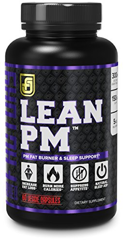 LEAN PM Night Time Fat Burner, Sleep Aid Supplement, Appetite Suppressant for Men and Women 60 Stimulant Free Veggie Weight Loss Diet Pills