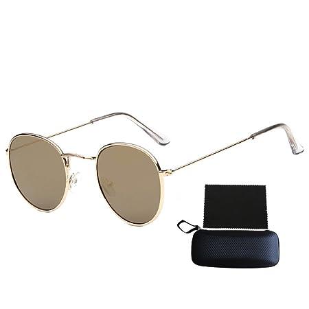 ef3645951 Pingenaneer Small Round Retro Sunglasses Metal Frame UV Protection Vintage  Men and Women Eyewear(Gold): Amazon.co.uk: Kitchen & Home