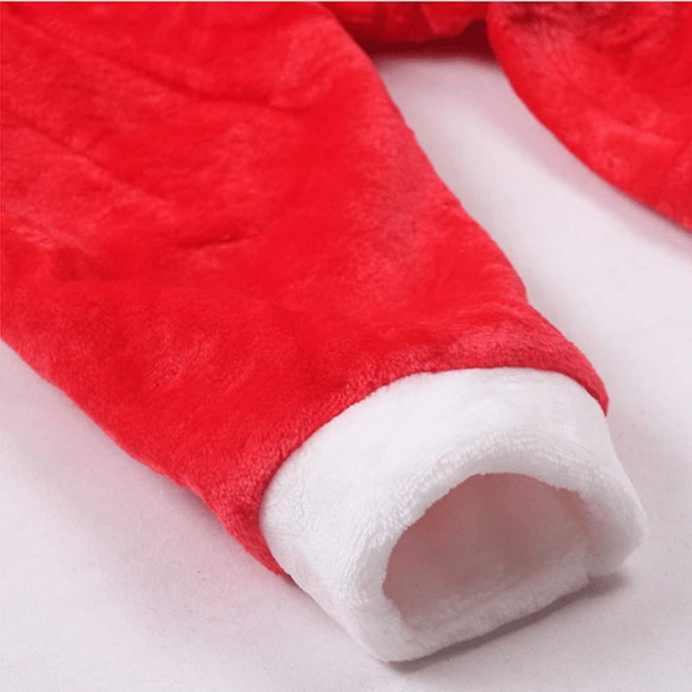 GSDZN - Mantel Kinder Mädchen Weihnachtskleidung Kostüm Party Kleider, Mantel - + Hose + Santa Hut Outfit,90 1-2years 6bdab3