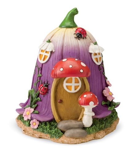 Fairy Village Houses, Resin - Hand-painted - 9''H - Set of 5 by HearthSong® (Image #6)
