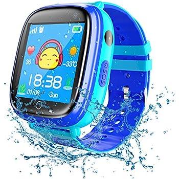 Kids Waterproof Smart Watches Phone, SZBXD GPS Tracker Touchscreen Sports Smartwatch Games Flashlight SOS Alarm
