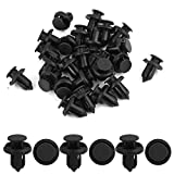 uxcell uxcell 30 Pcs 10mm Hole Retainer Clips Plastic Drive Rivets Mud Flaps Bumper Fender Push Clips