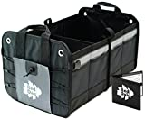 Car Auto Trunk Organizer | Premium Foldable Cargo Container | Sturdy Clutter Control for Your Car, Auto, Truck, Minivan or SUV | Car Registration Wallet | Rugged, Heavy Duty Storage Bin and Carrier
