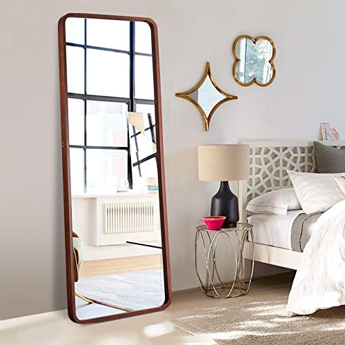 ElevensMirror Wooden Full Length Mirror with Standing Holder 65