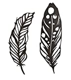 Cheap Zeckos 2 Piece Rustic Brown Laser Cut Metal Wall Feathers Metal Wall Sculptures Brown