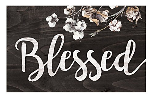 Blessed Cherry Blossoms Dark Distressed 17 x 10.5 Wood Pallet Wall Plaque Sign Graham Cherry Blossom