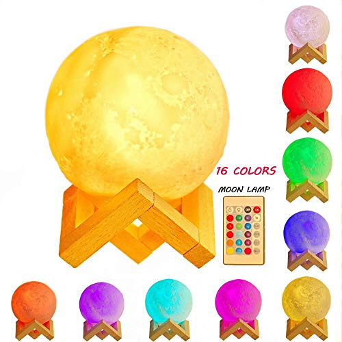 3D Moon Lamp with Stand, 4.9