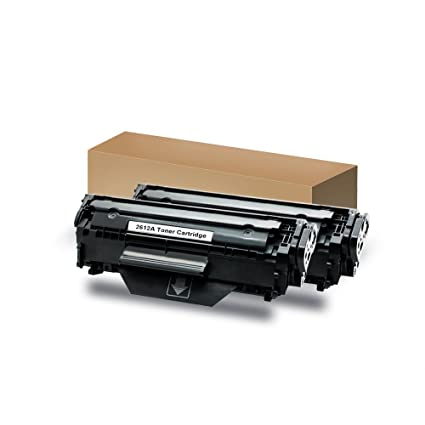 2 negro Tóner reemplazo For HP Q2612A 12A y Canon FX-10,FX10 FX-9 FX9