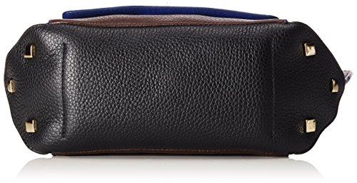 Trussardi Jeans 76B245, Borsa a mano Donna, Cioccolato/Blu, 19 cm