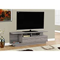 Monarch TV Stand with 2 Drawers, 60, Dark Taupe