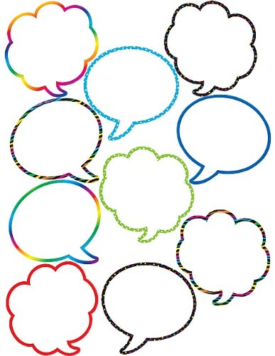 - Teacher Created Resources Speech/Thought Bubbles Accents (5047)