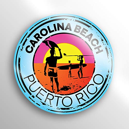 h Puerto Rico Decal Sticker |3-inch Round | Premium Quality Vinyl Sticker | UV Protective Laminate | PD1519 ()