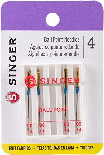 Singer Ball Point Machine Needles, Size 80/11, 4-Pack (4812) Machine Needle Sizes